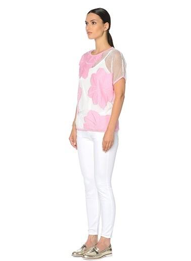 NetWork Slim Fit Pantolon Beyaz